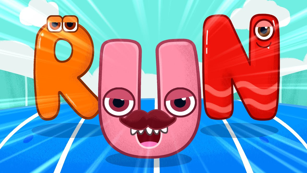 Fast and slow actions song for kids - Let's jump, run and sing! English educational rhymes