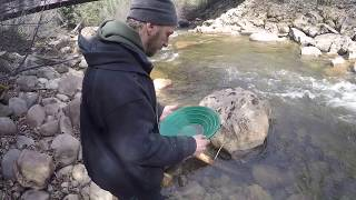 Found Gold in Creek! Mountain Camping Trip Panning