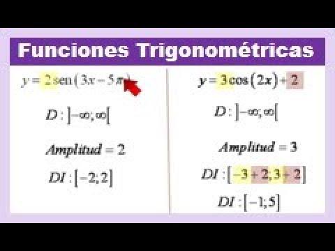 Funciones trigonometricas dominio y rango ejercicios resueltos - YouTube