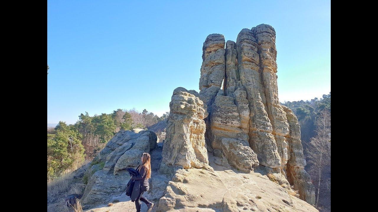 Wanderung bei Halberstadt /Harz   Fünffingerfelsen   Klusfelsen   Gläserner  Mönch