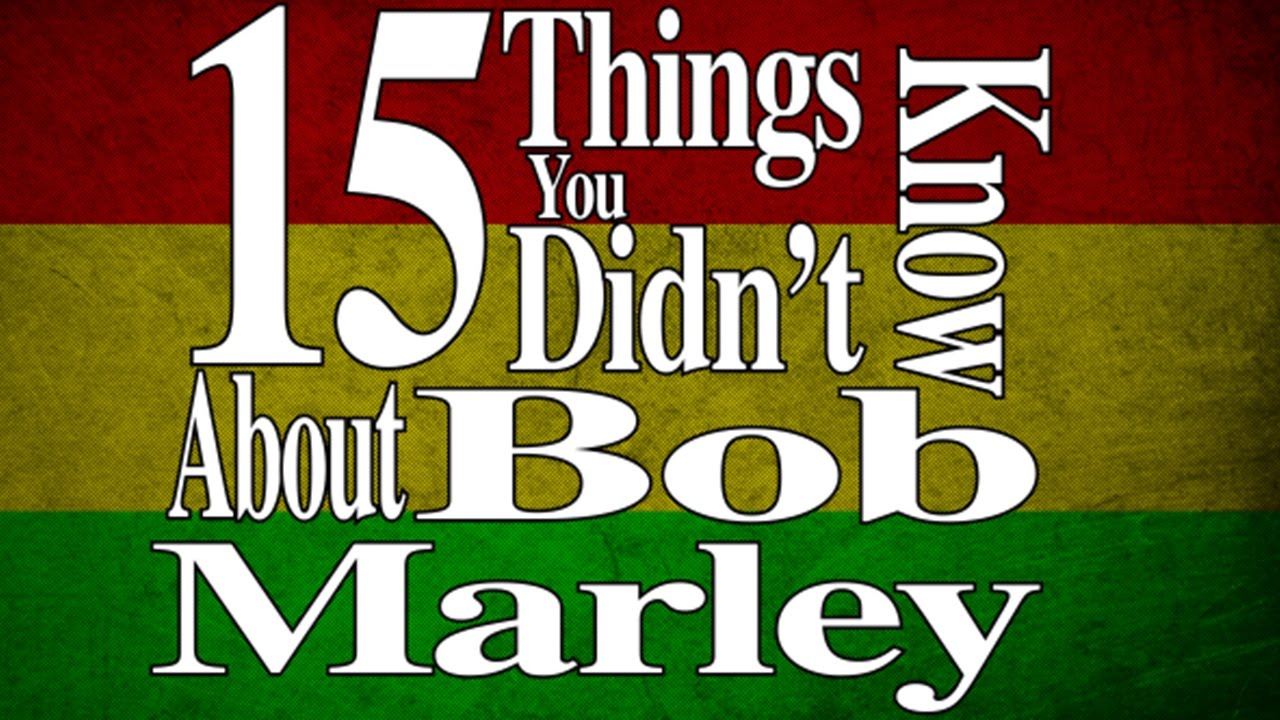 15 Things You Didn't Know About Bob Marley - YouTube