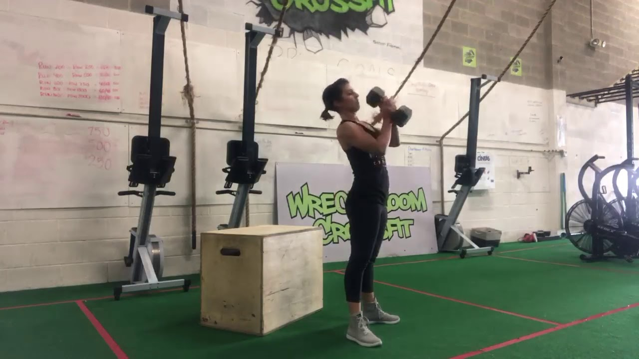 Single Arm Dumbbell Hang Clean and Push Press Demo - YouTube