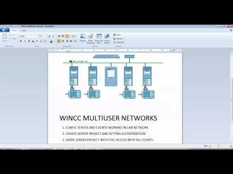 Wincc 7.4 Multiuser configuration , Server- Clients
