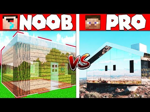 🔥Minecraft NOOB vs PRO - Invisible house building Challenge in Minecraft Animation