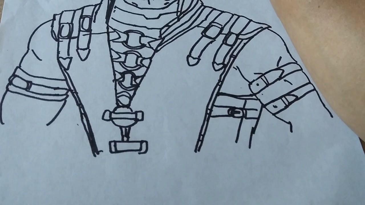 Dibujo De Un Escorpion Dorado cómo dibujar al escorpion dorado de mortal kombat 2️⃣ parte/how to draw  gold escorpion from mortal k