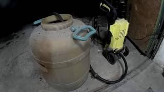Как керхер работает из ведра бочки
