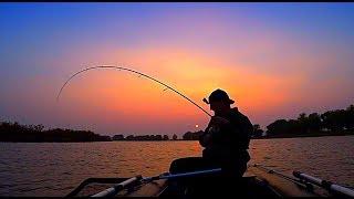 Рыбалка с ночёвкой на бешеных судаков. Первая моторная лодка. Отличный клёв. YAMAHA 9.9 (15)