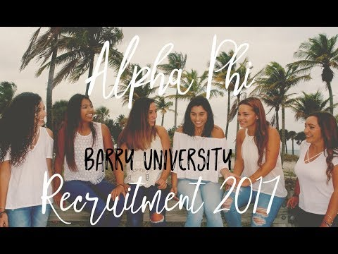 Alpha Phi at Barry University - Recruitment 2017