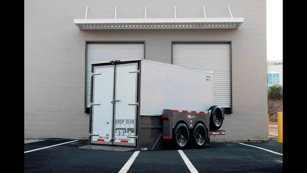 Hydraulic Lift Motorcycle Trailer : Enclosed drop deck trailers by depot youtube