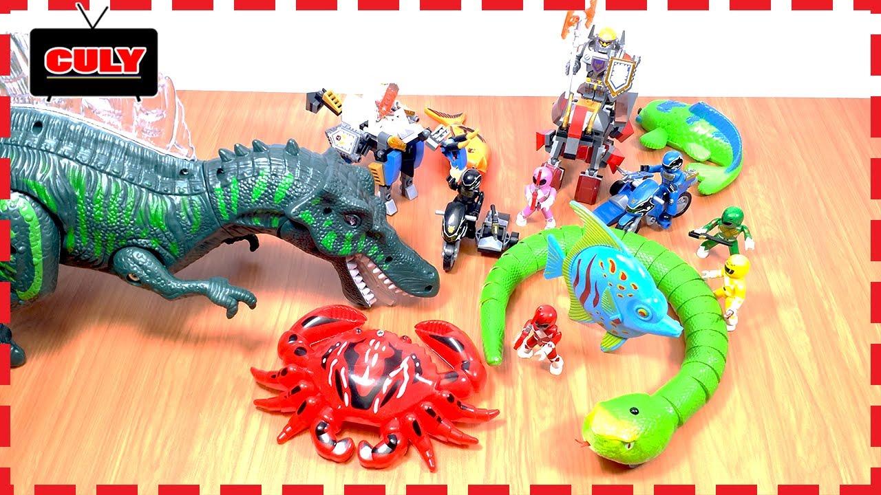 6 anh em siêu nhân chiến đấu với khủng long - Đồ chơi siêu nhân