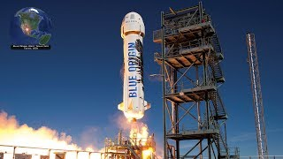 Blue Origin New Shepard self-landing rocket launch with 38 research payloads (5/2/2019)