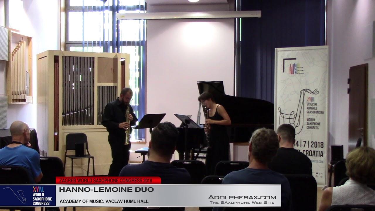 Schizophrenia by Yann Robin    Hanno Lemoine Duo   XVIII World Sax Congress 2018 #adolphesax