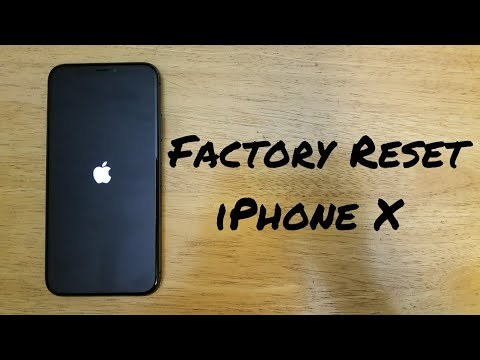 Factory reset iPhone X, 8/ 8 Plus