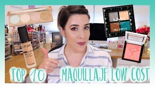 TOP 10 MAQUILLAJE LOW COST| PRODUCTOS FAVORITOS