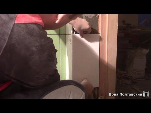 Укладка плитки в ванной - 11часть/Дверные откосы