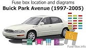 Fuse Box Location And Diagrams Buick Century 1997 2005 Youtube