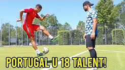 U 18 Portugal Nationalmannschaft Talent VS Cubanito Fussball Challenge!!
