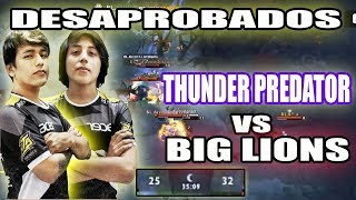 DESVENDADOS POR UN EQUIPO NOVEL THUNDER PREDATOR VS BIG LIONS