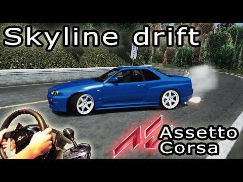 assetto corsa nissan skyline r34 itasha skin funnycat tv. Black Bedroom Furniture Sets. Home Design Ideas