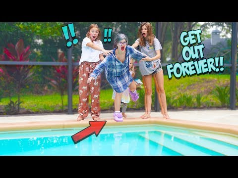 we-pushed-grouchy-granny-into-our-pool!!-she's-gone-forever?!-villains-ep.-1
