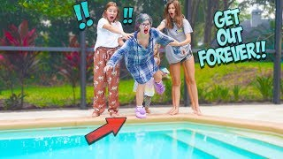 WE PUSHED GROUCHY GRANNY INTO OUR POOL!! SHE's Gone FoREVER?! Villains EP. 1