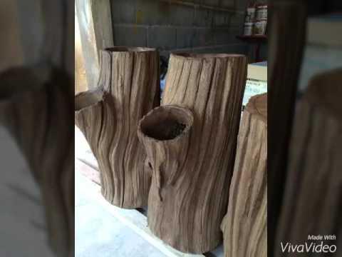 งานปั้นลายไม้