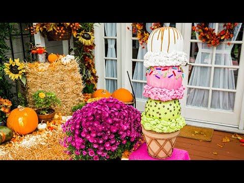 Ice Cream Pumpkin Topiary - Home & Family