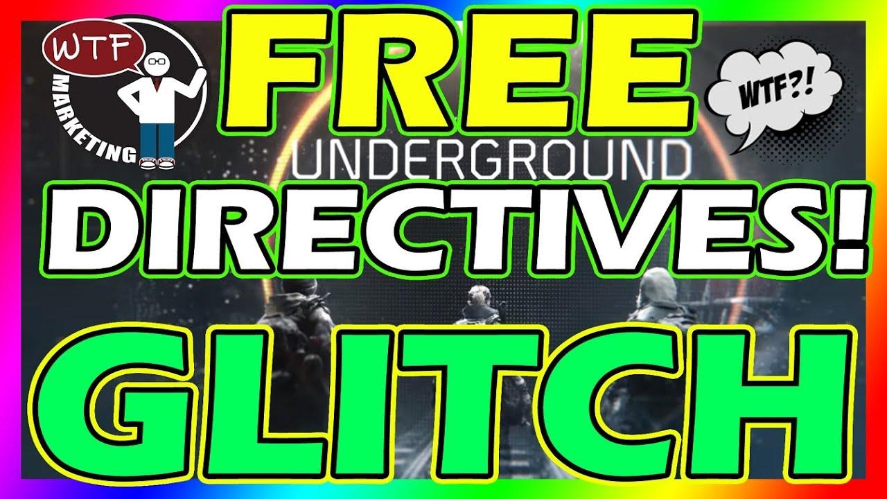 free underground directives epic glitch the division