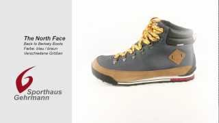 North Face Back-to-Berkely Boots / Stiefel, blue/brown - blau/braun