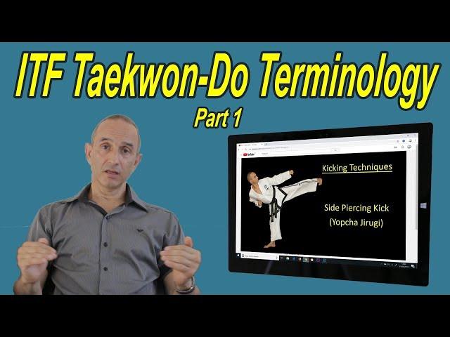 ITF Taekwon-Do Terminology - Part 1