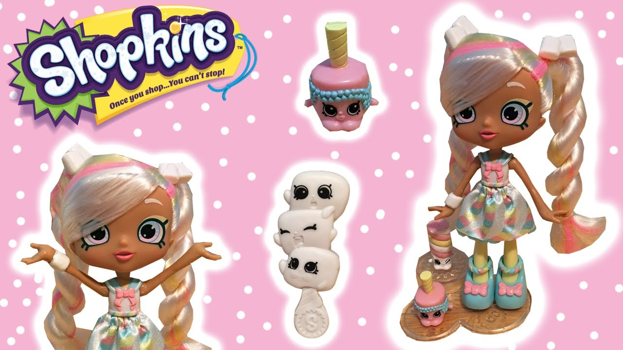 new shopkins shoppies doll marsha mello unboxing u0026 review with