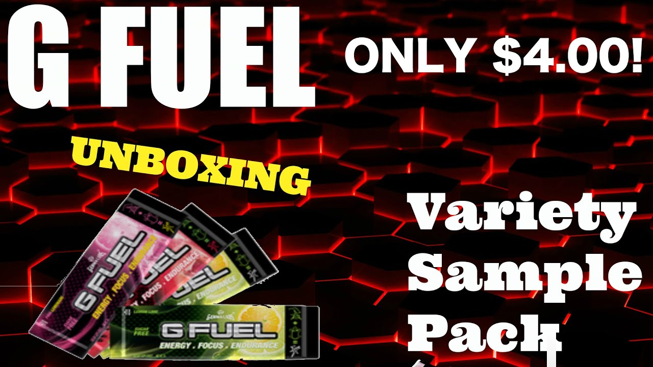 G FUEL: Variety Sample Pack Unboxing - YouTube