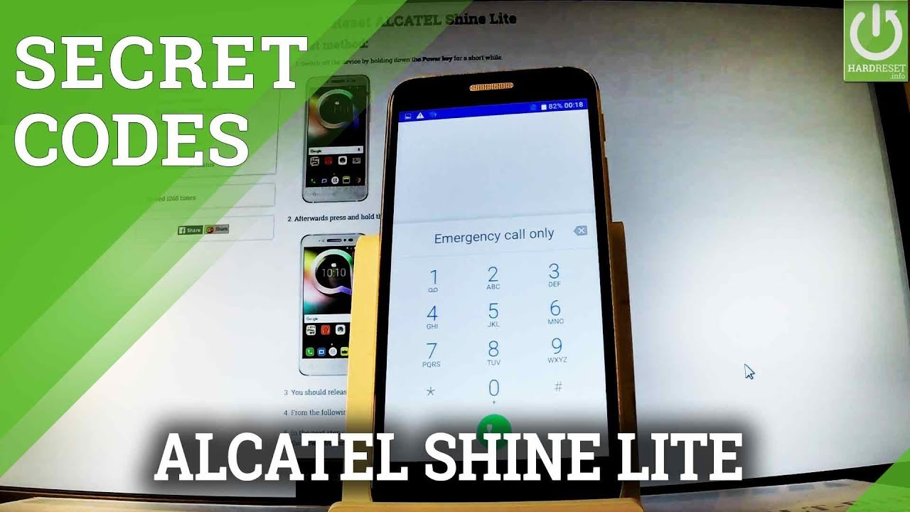 Secret Codes ALCATEL Shine Lite - Hidden Mode / Advanced Options