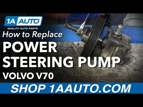 How to Install Power Steering Pump 00-07 Volvo V70
