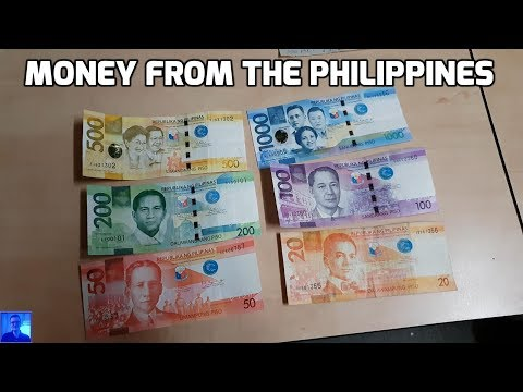 Money from The Philippines (showing both coins and notes)
