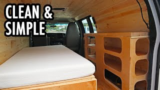 A Clean and Simple Cargo Van Camper Build/Conversion (Chevy Express)
