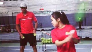 Wael Kilani @John McEnroe Tennis Academy&Sportime Quick reaction after Serves💯🏆