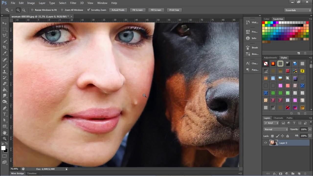 Removendo Manchas E Pintas De Rosto No Photoshop Cs6 Youtube