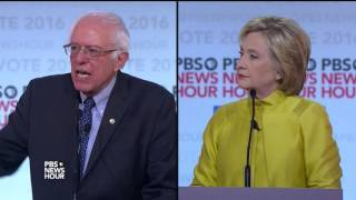 Sanders and Clinton address fears of big government