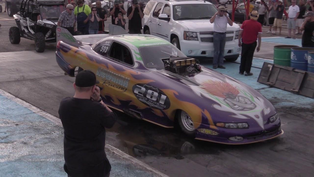 AMARILLO DRAGWAY - THE ONE  THE ONLY   FUNNY CAR CHAOS!
