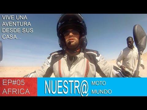Mauritania en Moto zancadilla en el viaje [SUB ENG] - Vuelta al Mundo en Moto Ep#05