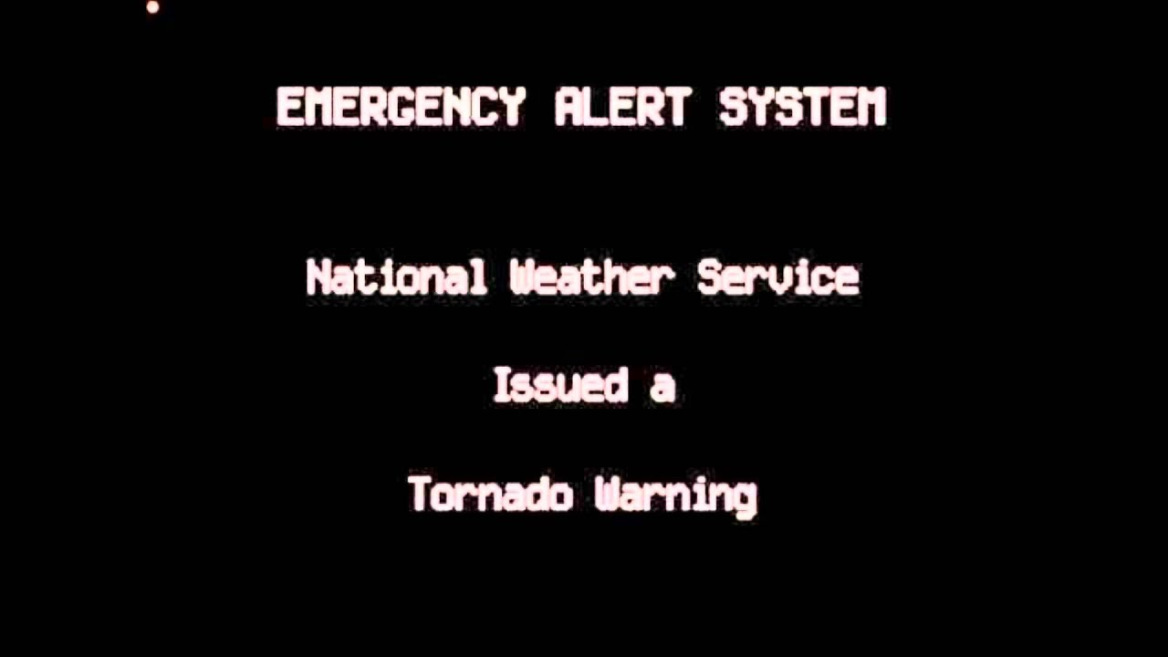 Eas Activation Emergency Alert System Scary Tornado