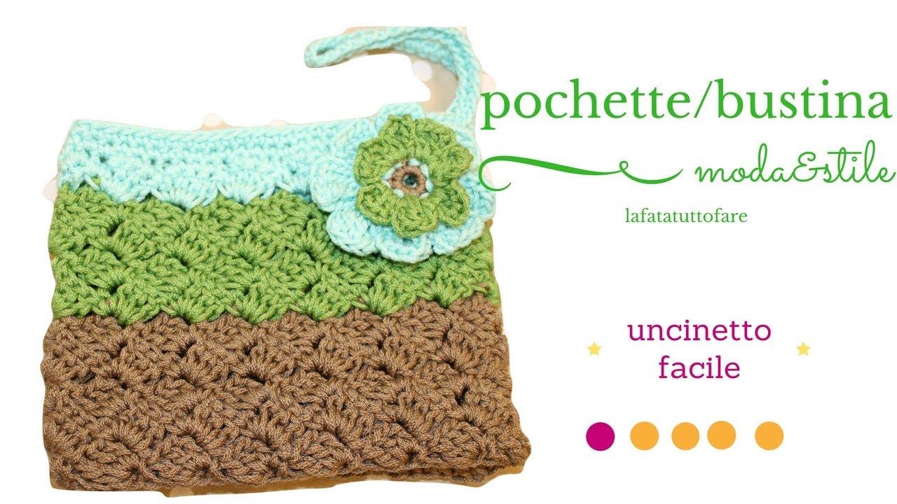 abbastanza TUTORIAL: pochette Summer/ bustina da borsa/ clutch crochet  QR91