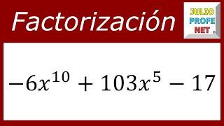 FACTORIZACIÓN DE TRINOMIOS DE LA FORMA ax² bx c - Ejercicio 8