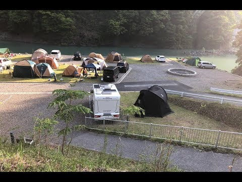 【車中泊・ドローン空撮】キャンピングカーでオートキャンプ/アプトいちしろキャンプ場