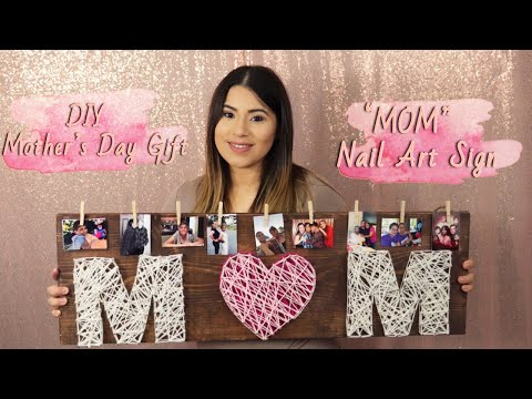 DIY MOM Nail Art Sign | Mother's Day