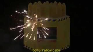 5076 Yellow cabs 19 shots - PRO-LINE - BestelVuurwerk.nl