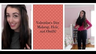 Valentine's Day Makeup, Hair, and Outfit Ideas! ♥ Thumbnail