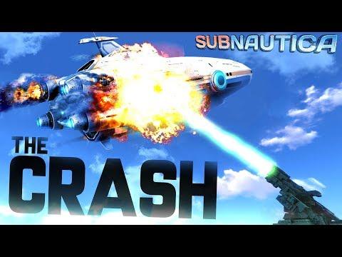 Subnautica - EXPERIENCE THE AURORA GETTING SHOT DOWN! Aurora Crash Simulation! - Subnautica Gameplay