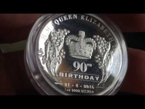 Queen's 90th Birthday High Relief Silver Coin